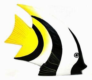 deko fisch holzfisch dekofisch kunstfisch holz fische e zierfisch korallenfisch ebay. Black Bedroom Furniture Sets. Home Design Ideas