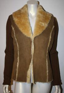 rifiniture lana marrone in maglione pelle in montone pelle l Lavanderia scamosciata 0xE5Fqwnp