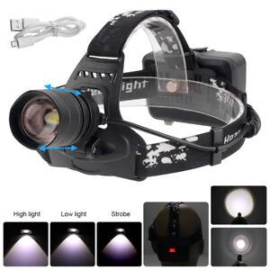 Zoombar Taschenlampe Lampe Licht XHP50 LED Schwarz 20W Wiederaufladbar