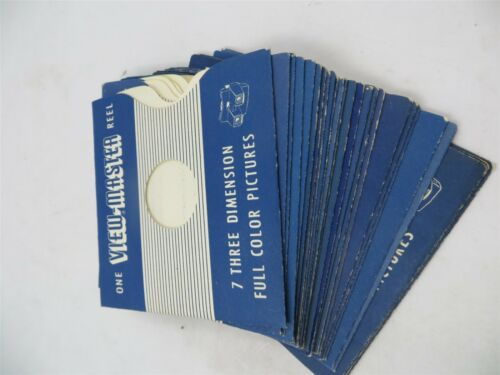 1950/'s Good Condition View-Master Lot of 20 Empty Reel Sleeves No Marks