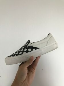 White Woven Vans Check 5 Slip Us Black Og Uk5 5 Lx 50th Va Classic on Leather 6 fHqzqg