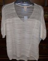 Chico's Callalily White Lissette Pullover Top Size 0 (4/6)