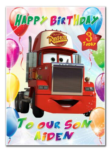 C133; large personnalisé de carte d/'anniversaire; faites sur mesure pour tout nom; camion mack