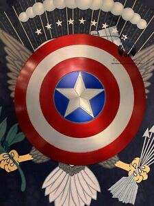 60CM-23-5-034-Captain-America-Shield-1-1-Full-Aluminum-Metal-FREE-STAND-OR-CLAWS
