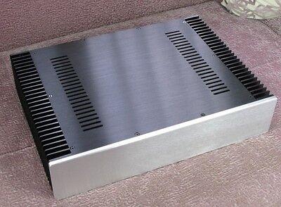 NEW DIY BZ4309 Full Aluminum Enclosure power amplifier box dual heatsink chassis