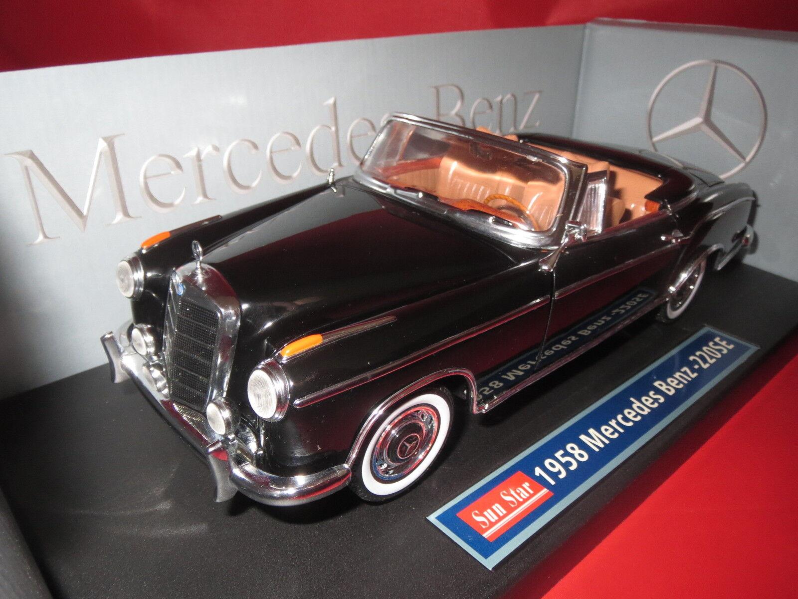 Sun Star  3553  Mercedes-Benz  220 SE  1958    schwarz/hell-braun  1:18  OVP