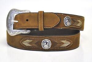 Mens Top Hand Black Oval Concho Dress Ariat Men/'s Accessories N2476601 Nocona Belt Co