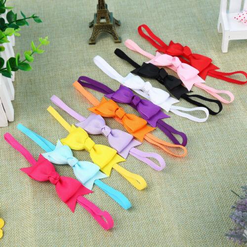 10pcs Newborn Baby Girl Infant Toddler Headband Bow Ribbon HairBand Accessory QA