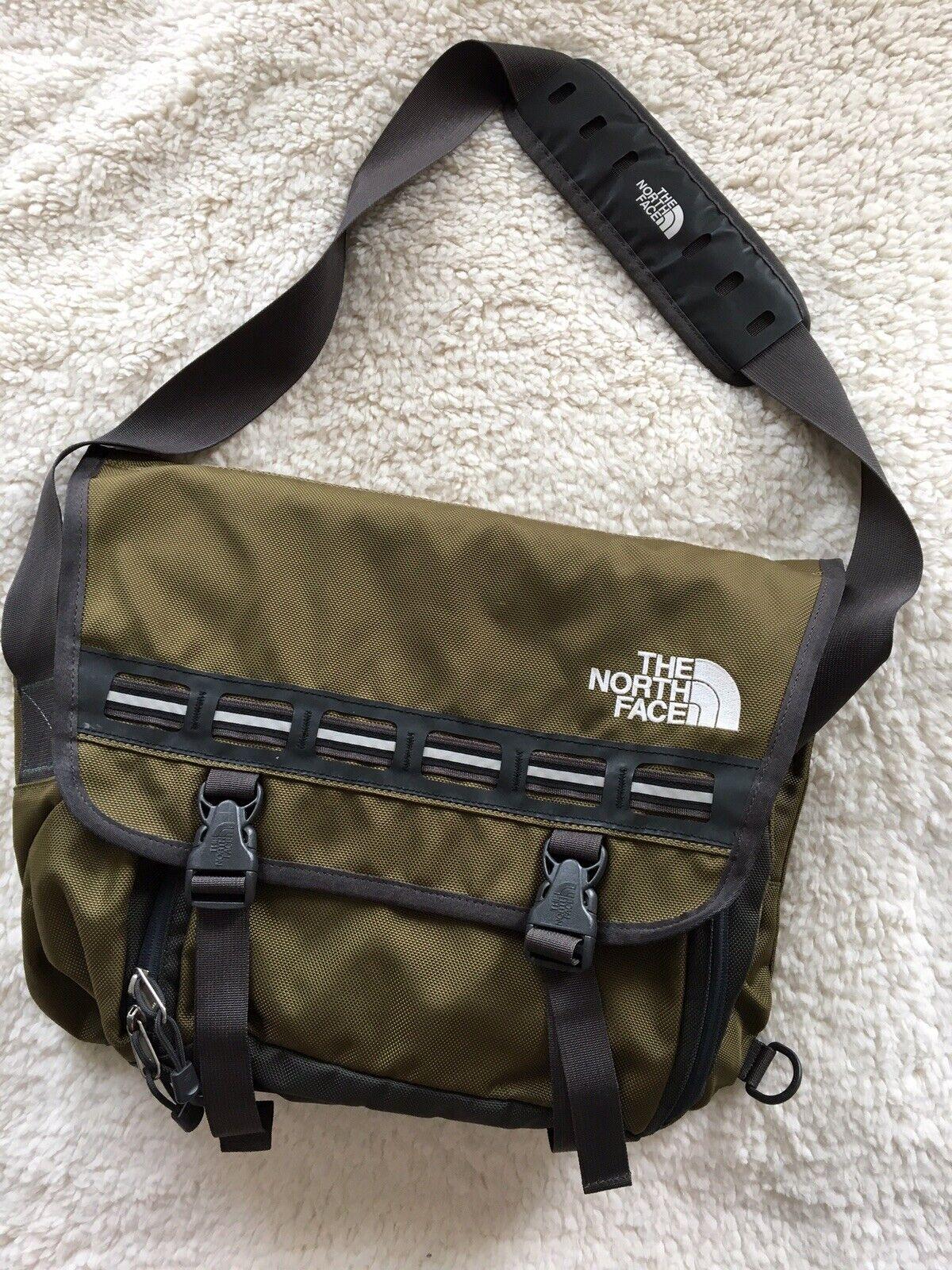 THE NORTH FACE Men's Travel Hiking Shoulder Bag Coloree Khaki Sz Large