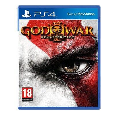 GOD OF WAR 3 REMASTERIZADO PS4 VIDEOJUEGO FÍSICO PLAYSTATION 4 PHYSICAL GAME