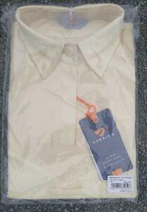 Aubrion short Sleeve Tie Show Shirt UK 12 14 Medium yellow hunting jump M