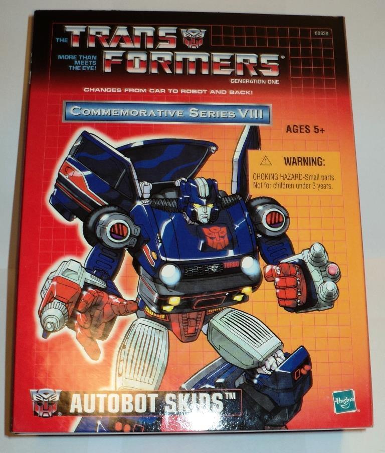 Transformers Conmemorativa serie VIII 2004 G1 reedición Skids sin usar y en caja sellada