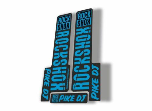Rock Shox PIKE DJ 2018 Fork Decal Mountain Bike Cycling Sticker Adhesive Blue