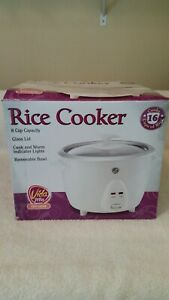 6 Cups Cooked Rice 3 Cups Capacity Vida Mia Rice Cooker White New Open Box