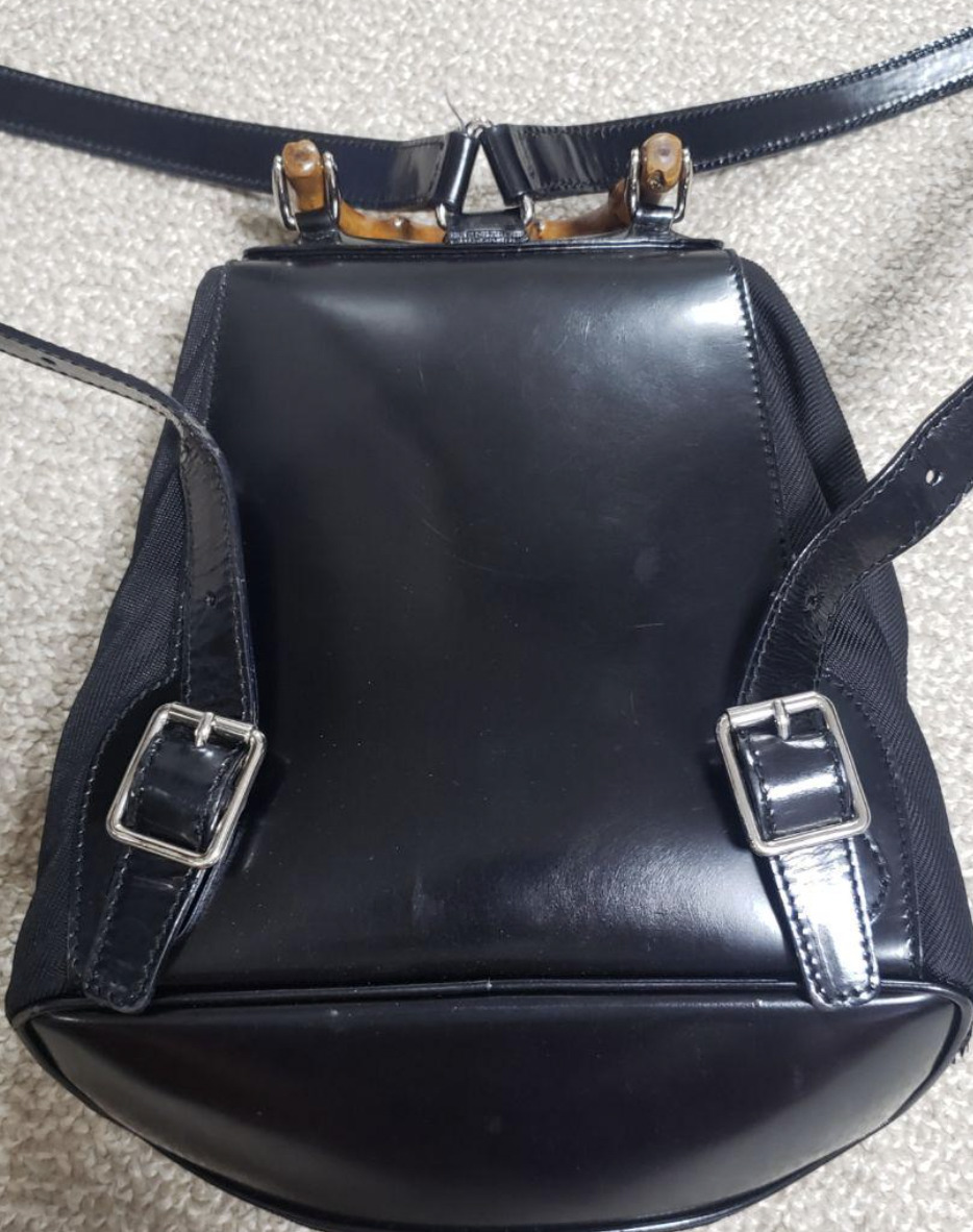 Authentic Gucci GUCCI Bamboo Backpack vintage nyl… - image 3