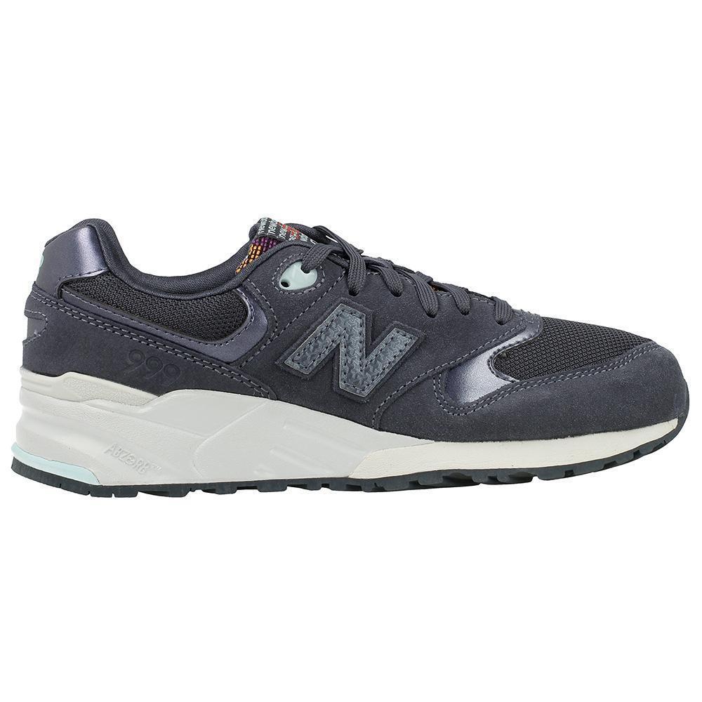 Zapatos promocionales para hombres y mujeres Mujer New Balance 999 Azul Marino Zapatillas de ante wl999cea