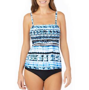 14 $48 St 10 John/'s Bay Moroccan Sun Smocked Tankini Swimsuit Top Size 8