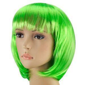 Green Kids Short Bob Cut Fancy Dress Wigs Play Costume Wig Party ... 55b0d827085f