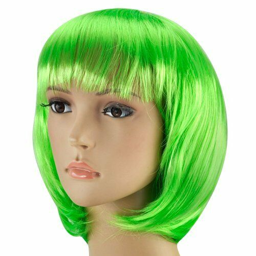 Green Kids Short Bob Cut Fancy Dress Wigs Play Costume Wig Party Stag Do  Adults for sale online  6fe2fb98783f
