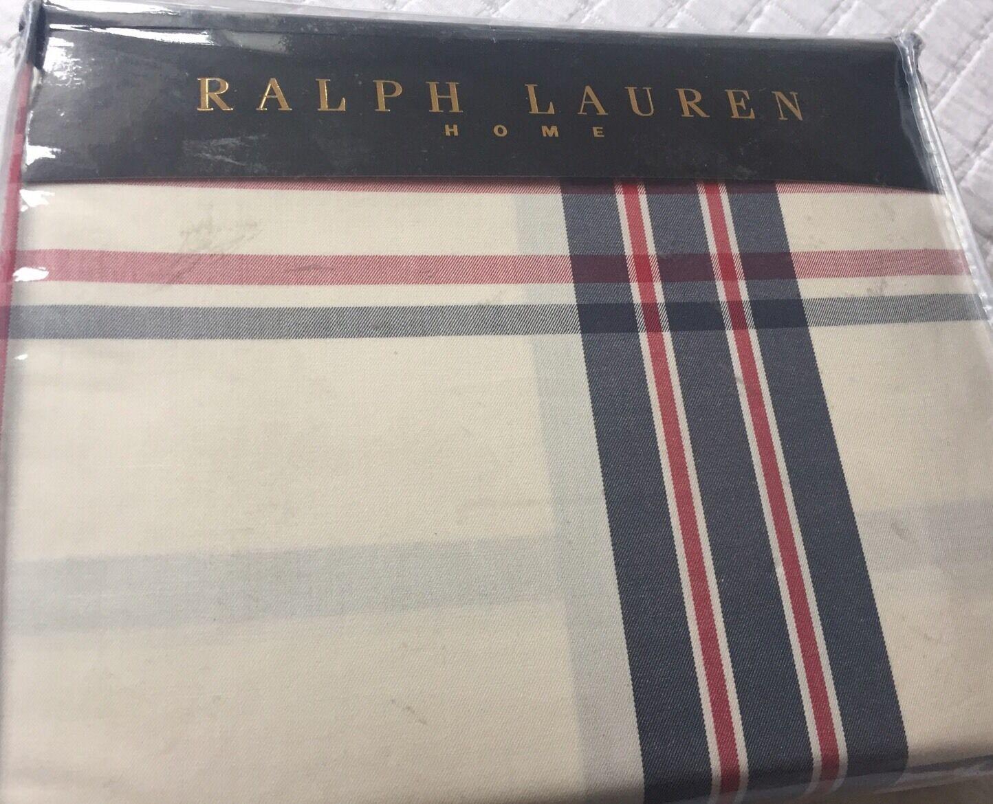 RALPH LAUREN TALMADGE HILL PLAID MULTI DUVET COVER SET DOUBLE 200 220CMS