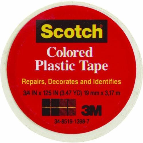 "72 Pk 3M 3//4/"" X 125/"" Scotch White Plastic Repair Decorate Identifying Tape 190"