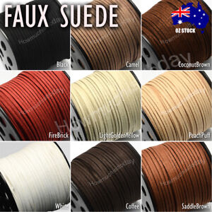 5m 3mm Faux Suede Cord Lace Thread String Enviro Leather Jewellery Beading DIY