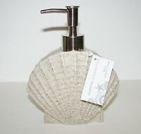 Coastal Collection Sand Beige+clam Shell+ Resin Soap+lotion Dispenser