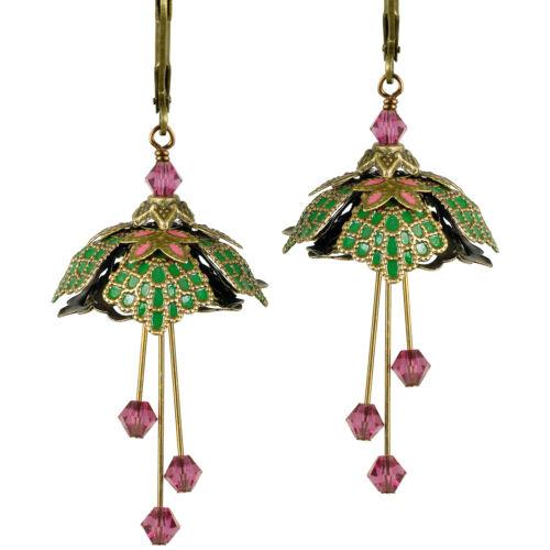 "Flower Fairy /""Elvish Princess/"" Earrings By No Monet Free Shipping HP13A7"
