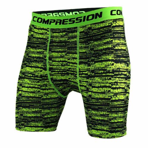 Men Compression Workout Shorts Gym Fitness Trunks Stretchy Camo Sports Underwear