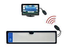 Nummernschild Rückfahrkamera 170° inkl 4,3 Zoll Monitor & Funkübertrager