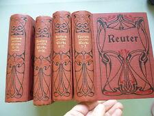 18 Bd./4 Bücher Fritz Reuters sämtliche Werke Reuter
