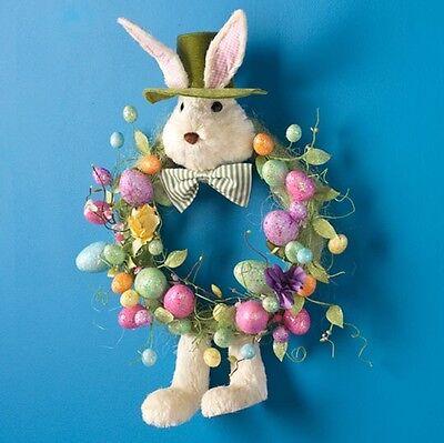 "Raz Imports wreath bunny rabbit egg Easter Spring W3452299 26.5"""