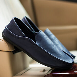 Peas-Shoes-Men-039-s-Summer-Driving-Shoes-Casual-Loafers-Business-Leather-Sandals