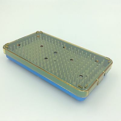 Small Silicone Sterilization Tray case Box with Silicone mat for Surgical Instrument