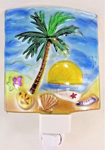 Palm Tree Glass night light coastal life decor