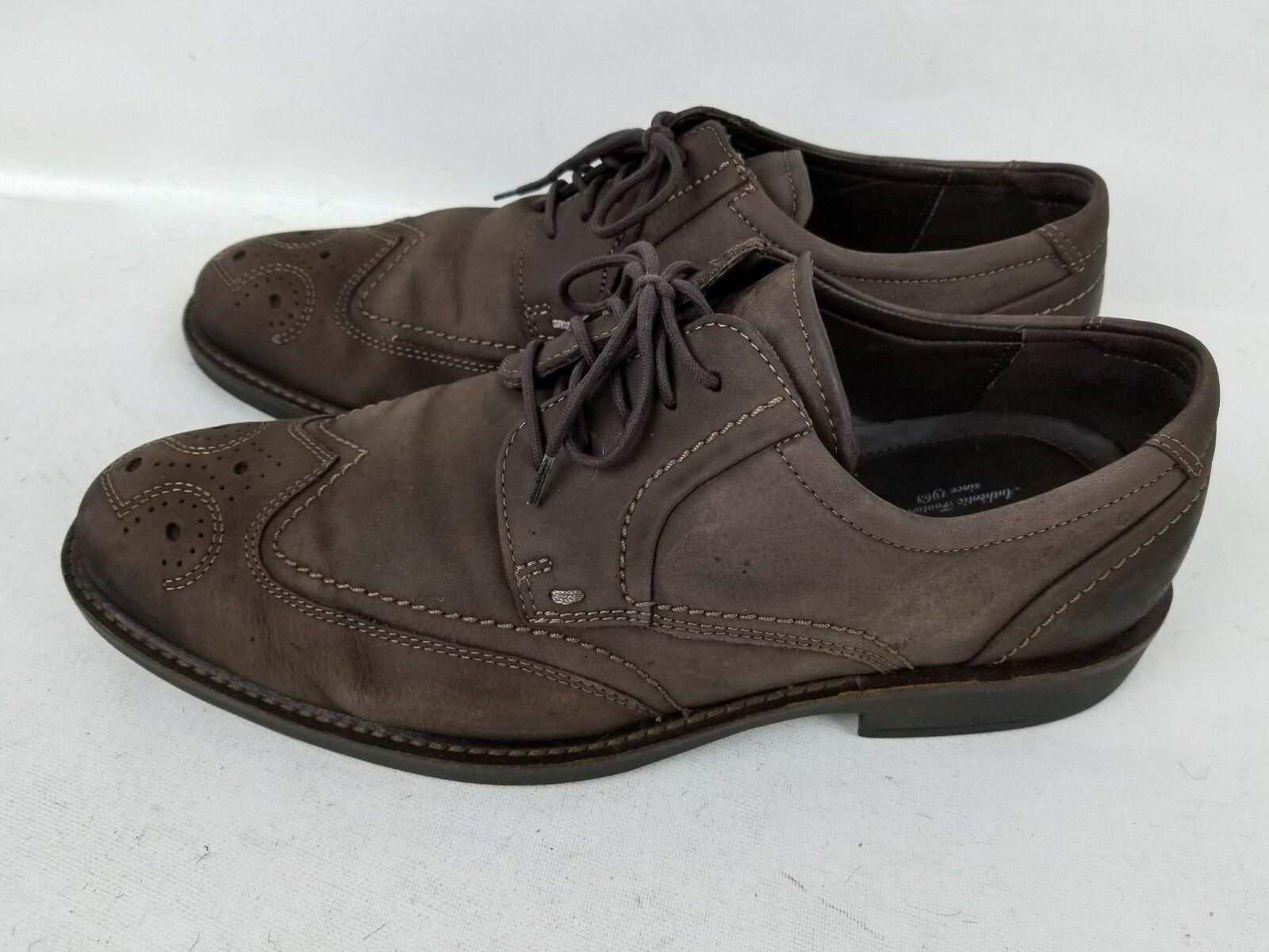 ECCO Authentic Uomo City Walker Wingtip Brown Pelle oxford Shoes EU 43 US 9-9.5