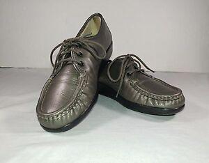 SAS Tripad Comfort Soft Step Men US 8.5 Brown Leather Slip On Casual Dress Shoes