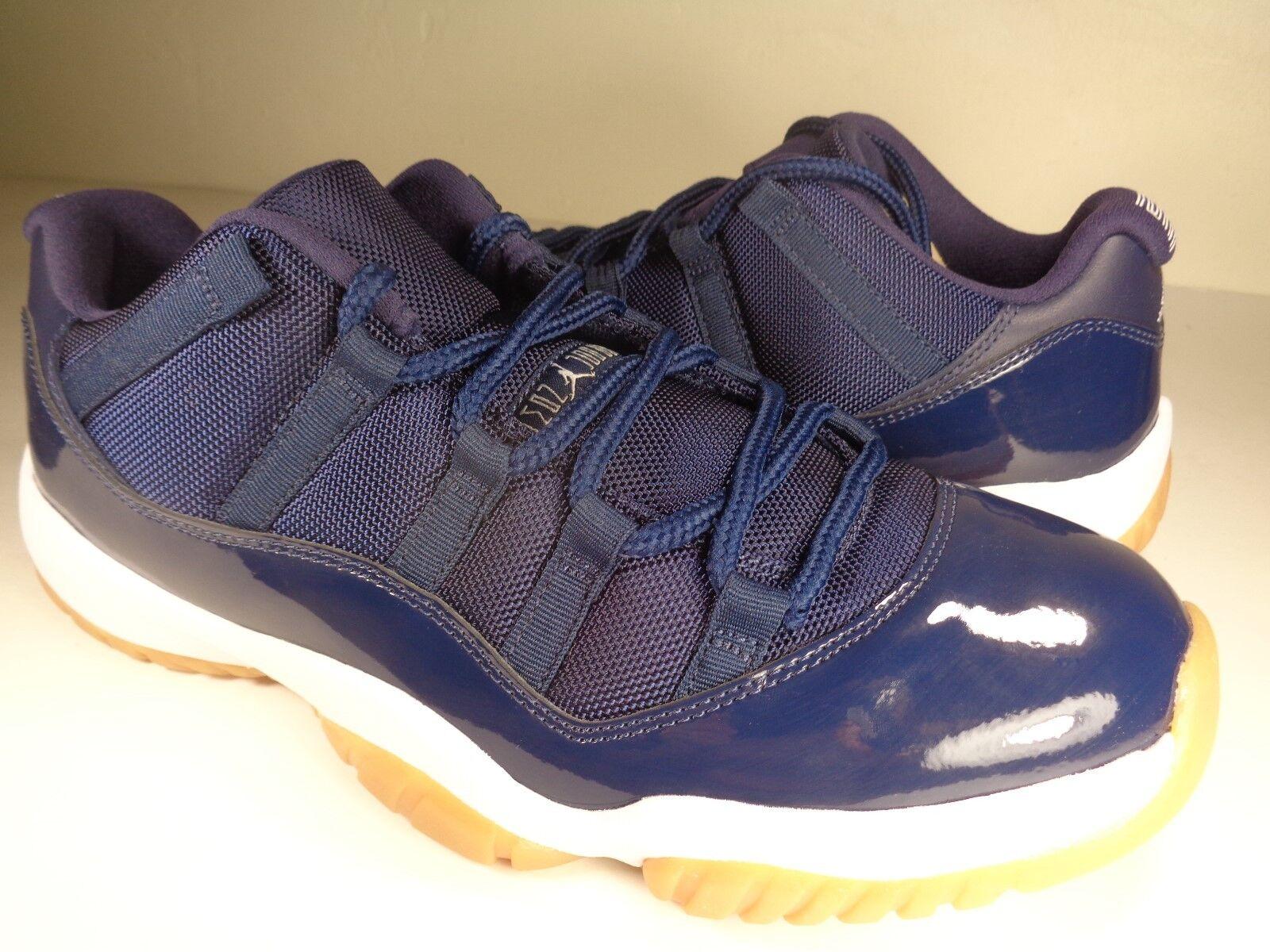 Nike Air Jordan XI 11 Retro Midnight Navy blanc Gum Brown SZ 10.5 (528895-405)