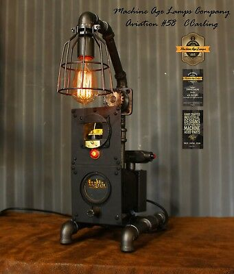Steampunk Machine Age Lamps Aviation Lamp Directional Gyro Comp Lighting Wwii Ebay