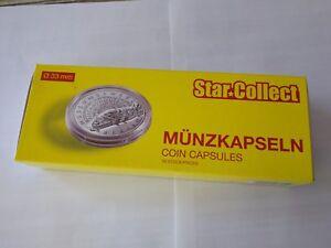 50 Cápsulas redondas, para monedas de 12€/20€/30€ euros.. Ø33mm. *StarCollect