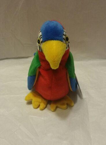 """TY Beanie Baby JABBER PARROT BIRD 6/"""" Soft Toy Bean Bag Plush Stuffed 1997 MWMT"""