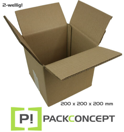Faltkarton 2-wellig 200 x 200 x 200 mm; Karton; Pappkarton; Versandkarton; #5