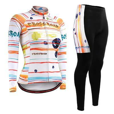 FIXGEAR CS-W2001-SET Women's Cycling Jersey & Padded Pants MTB Bike BMX Roadbike