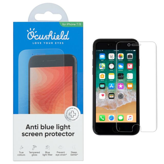 e77673a6c1f Ocushield Anti Blue Light, Tempered Glass Screen Protector For iPhone 6 Plus