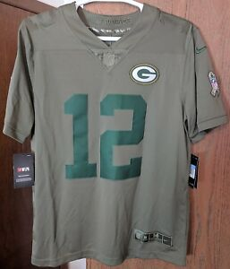 new arrival f5ebf 56d39 Details about AARON RODGERS Packers Nike Salute to Service Limited Jersey  Size M SRP $160 NWT