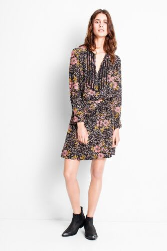 Zadig Nwt Kleid Size S 448 Voltaire Noir Multi mit Remus Print BRRUnrwdq