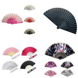 Spanish/Chines<wbr/>e Style Dance Party Wedding Lace Silk Folding Hand Held Flower Fan
