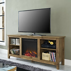Electric Fireplace Rustic Tv Stand Entertainment Center