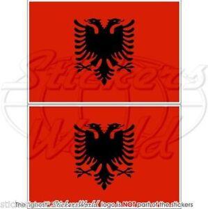 ALBANIA-Albanian-Flag-Vinyl-Bumper-Decals-Stickers-4-034-100mm-x2