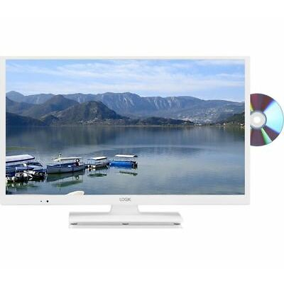 """LOGIK L24HEDW18 24"""" LED TV with Built-in DVD Player - White"""